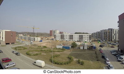 construction timelapse - construction site and new build...