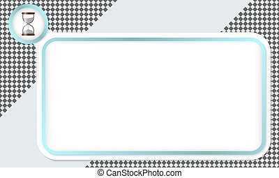 Frame for your text and sand glass