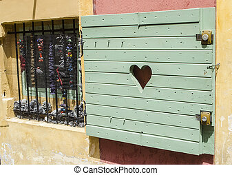 Heart Detail Painted Shutter