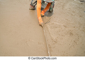 Workers were pouring concrete