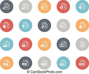 Documents Icons 1 of 2 Classics - Vector icons for your web,...