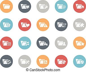 Folder Icons Set 2 of 2 Classics - Vector icons for your...