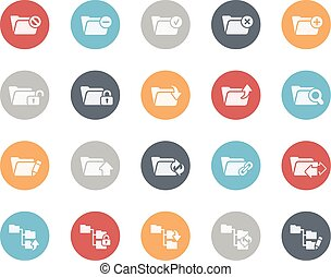 Folder Icons Set 1 of 2 Classics - Vector icons for your...