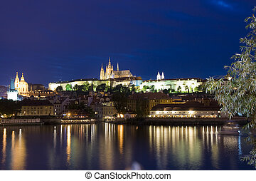 Prague castle - Night view on the Prague castle, Czech...