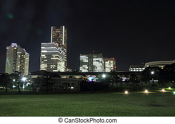 Yokohama landmark tower in Yokohama