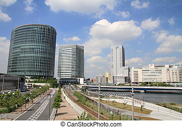 high rise buildings in Yokohama, Japan
