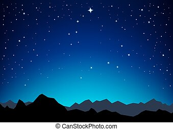 star sky mountains - Night sky with the constellation of the...