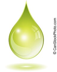 Natural oil drop - Natural green oil drop