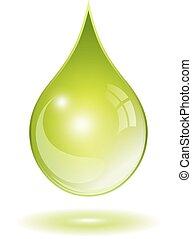 Natural oil drop - Natural green oil drop
