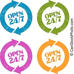 Open 24 stamp