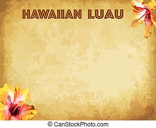 Hawaiian luau party invitation card