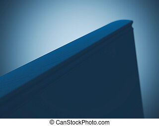 Book spine - Blank book spine isolated on blue background