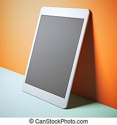Modern white tablet pc