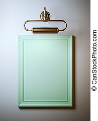 Vintage frame with lamp
