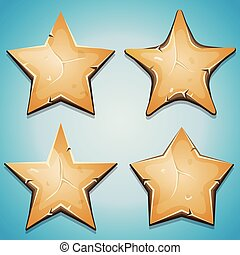 Sand Stars Icons For Ui Game - Illustration of a set of...