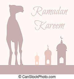 Vector Ramadan greeting with camel
