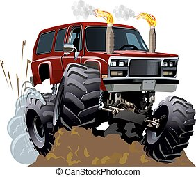 Cartoon Monster Truck. Available EPS-10 vector format with...