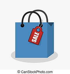 Shopping Bag with Sale Tag