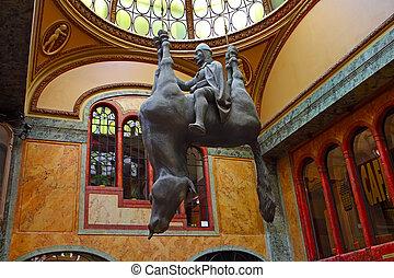 sculpture Kun Horse Prague, Czech Republic - Prague, Czech...