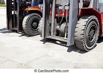 Forklift loaders tires