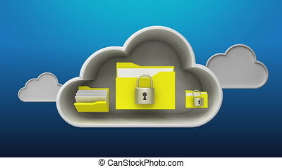 Access Cloud Security service animation included Alpha