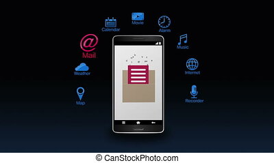 Various application for smartphone - Various application...