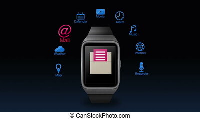 application function for smartwatch - Various application...