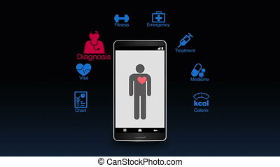 Health care app for smartphone - Health care application...