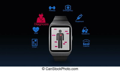 Health care app for smartwatch - Health care application...