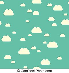 Seamless pattern clouds - Seamless pattern of sunlit clouds...