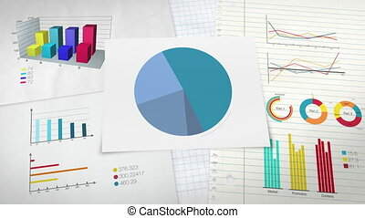 Circle diagram for presentation, Pie chart indicated 80...