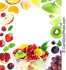 Mixed fruits - Fresh fruit salad Mixed fruits Fruit concept...