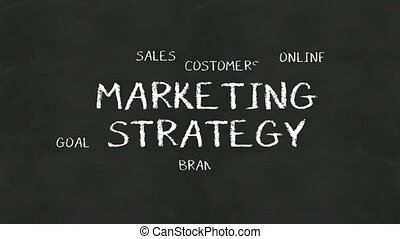 Handwriting of 'Marketing Strategy' - Handwriting concept of...