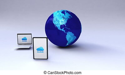 Cloud for mobile device with earth - Cloud service for...