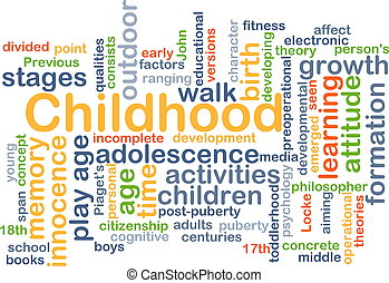 Childhood background concept - Background concept wordcloud...