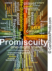 Promiscuity background concept glowing - Background concept...
