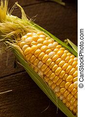 Raw Organic Yellow Seet Corn Ready to Cook