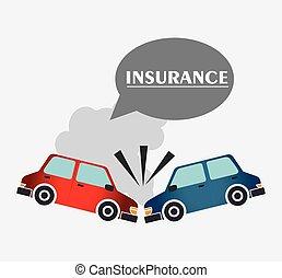 Insurance design - Insurance design over white background,...