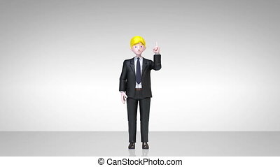 businessman character gesturing 2 - businesswoman character...