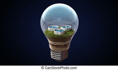 Hydraulic energy makes an bulb