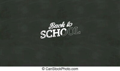 Handwriting of 'Back to school' - Handwriting concept of...