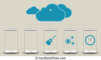 Download application data to cloud - Editorial animation:...