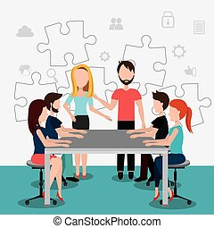 Coworking design. - Coworking design over white background,...