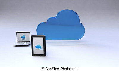 Cloud service with mobile devices