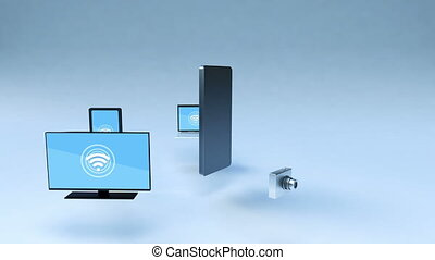 Wifi service in smartphone - Cloud service in smartphone...