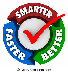 Smarter Faster Better Words Perfect Choice Check Mark Circle...