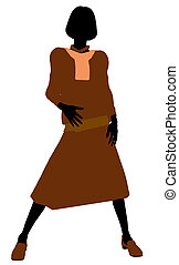 Conservative Female Illustration Silhouette