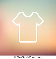 T-shirt thin line icon - T-shirt icon thin line for web and...