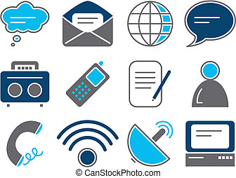 Communication Icons - Vector illustration of 12 different...