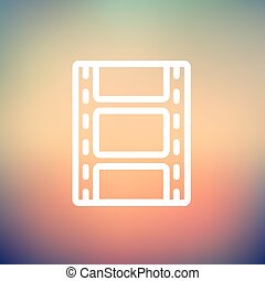 Filmstrip with image thin line icon - Filmstrip with image...
